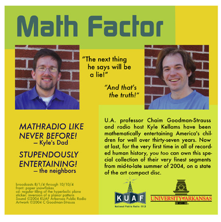 Back of the Math Factor CD